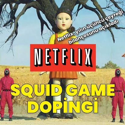 """Netflix'e """"Squid Game"""" dopingi"""