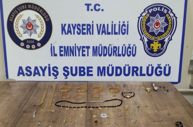 Ankara'da çaldıkları altınlarla Kayseri'de yakalandılar