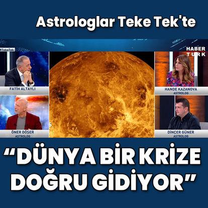 Ünlü astrologlardan Habertürk TV'de korkutan ekonomi tahminleri