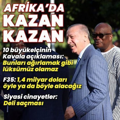 Cumhurbaşkanı Erdoğan'dan Afrika dönüşü kritik açıklamalar