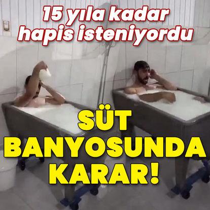 Konya'da süt banyosuna beraat!