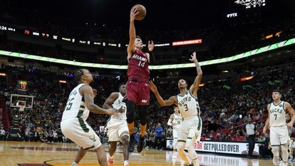 NBA'de Heat'ten Bucks'a 42 sayı fark