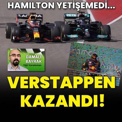 Hamilton yetişemedi, Verstappen kazandı!