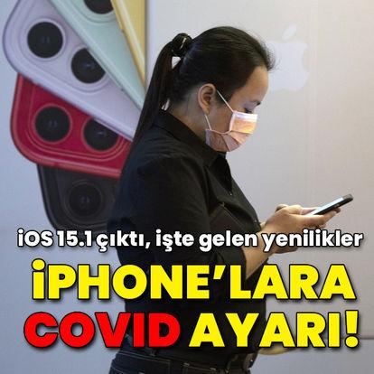 iPhone'lara Covid-19 ayarı