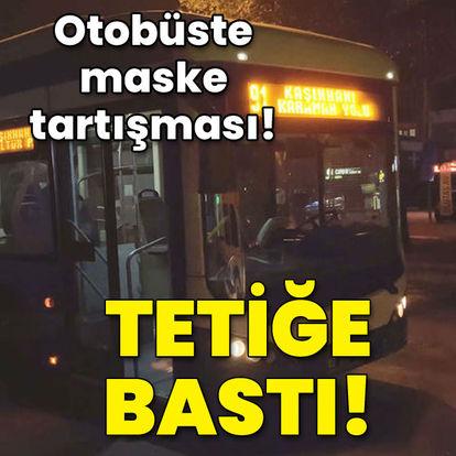 Otobüste maske tartışması! Akılalmaz dehşet!
