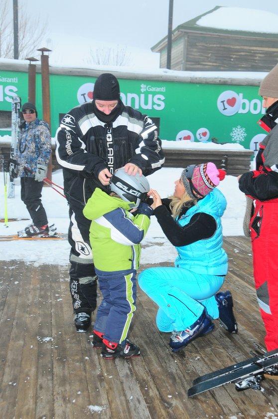 'Şen'lerin kayak keyfi