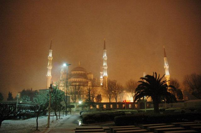 Mega kent istanbul dan kar manzaraları