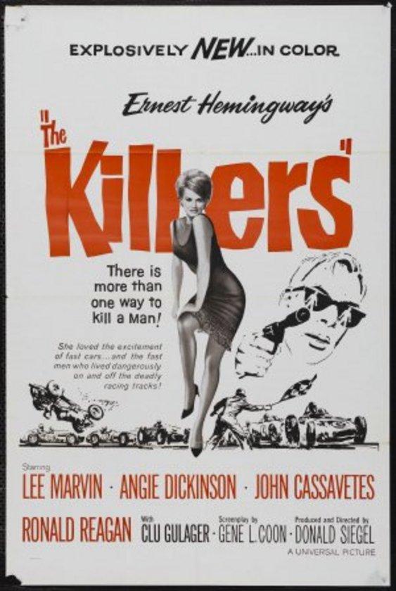12-The Killers (1964)\n\nErnest Hemingway'in romanın ikinci sinema uyarlaması, 'polisiye' örgüsünden ziyade iki kiralık katiline odaklı akmıştır. Sert Lee Marvin ile tekinsiz Clu Gulager'ın oluşturduğu bu çift, kendilerini kimin tuttuğunu öğrenmeye çalışırlar filmin tamamında. Bu da sporcu, femme fatale, hırsız ve dolandırıcı gibi kavramlardan toplumsal yozlaşmaya götürür bizleri.