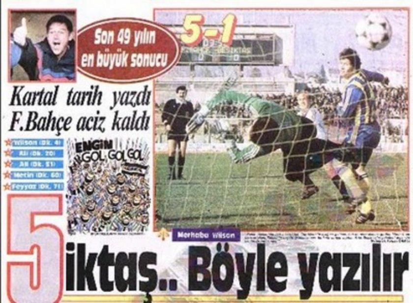 (LİGDE FARKLI SKORLAR) Ligde ise Beşiktaş, 6 Ocak 1990 tarihinde Fenerbahçe'yi 5-1 yenerek en farklı skorlu galibiyetini elde etti.