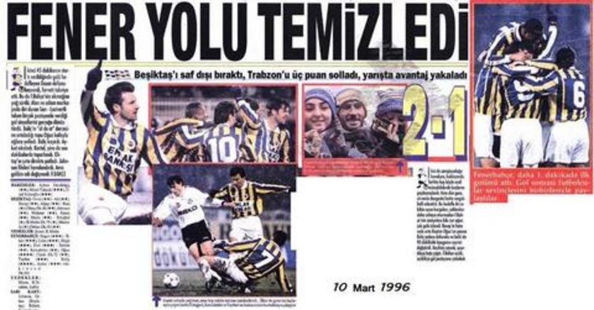İki takım arasında 10 Mart 1996 tarihinde İnönü Stadı'nda yapılan lig maçının 21. saniyesinde fileleri havalandıran Fenerbahçeli Boliç, ezeli rekabetin kayıtlara geçen en erken golüne imza koydu. Fenerbahçe bu maçı 2-1 kazandı.