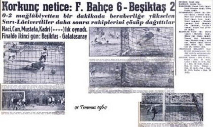 Ayrıca, 19 Mayıs 1955'te yapılan Atatürk Kupası maçı da 4-4 berabere sonuçlanırken, 1 Temmuz 1960'daki Cemal Gürsel Kupası karşılaşmasını ise Fenerbahçe 6-2 kazandı.