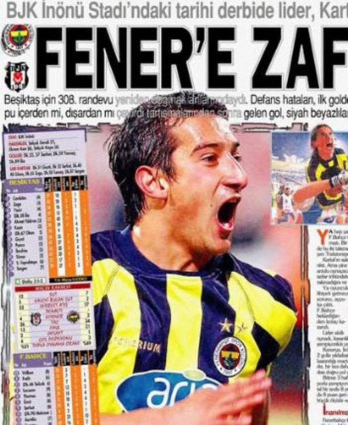 """13-""""4 kırmızı kart ve Serhat Akın"""" BJK 0-2 FB (14 Nisan 2002) 2001-2002 sezonunda iki ezeli rakip İnönü'de karşı karşıya. Her iki takımdan ikişer oyuncunun atıldığı maçı Fenerbahçe Serhat'ın 2 golüyle kazanıyordu."""