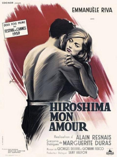 """Hiroşima Sevgilim(Hiroshima Mon Amour) (1959) Hiroşima'ya atom bombası atılmasıyla oluşan sürece bir """"duygusal bağ""""ın gözünden bakan film, Fransız bir aktris ile Japon bir mimarın aşkını öne çıkaran bir Alain Resnais mucizesi. Bütün destansı aşk filmlerine karşıt duruşuyla dikkat çeken yapıt, büyük oranda sözlü tarih çalışmasını soyut ruhlar üzerinden yapma becerisiyle çığır açtı. Bu modelle de iz bıraktı."""
