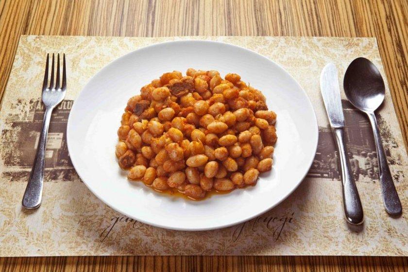186 gram kuru fasulye = 200 kalori