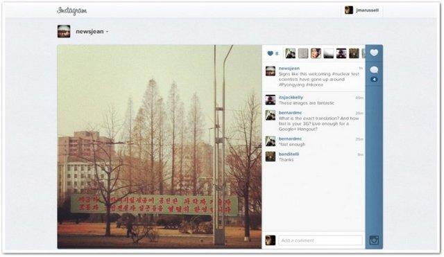 Twitter ve Instagram'dan ilk paylaşımları, AP haber ajansının Pyongyang temsilcisi Jean H. Lee yaptı.