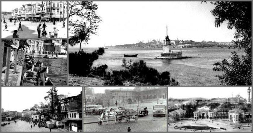 <p>İstanbul'un farklı semtlerindeki doğal ve kültürel değişimi belgeleyen kareler, İstanbul'un tarihi mimari eserleri, gündelik yaşantısı, esnafı, kadınları, çocukları ve eğlence hayatının yer aldığı nostaljik bir yolculuğa çıkarıyor.</p>
