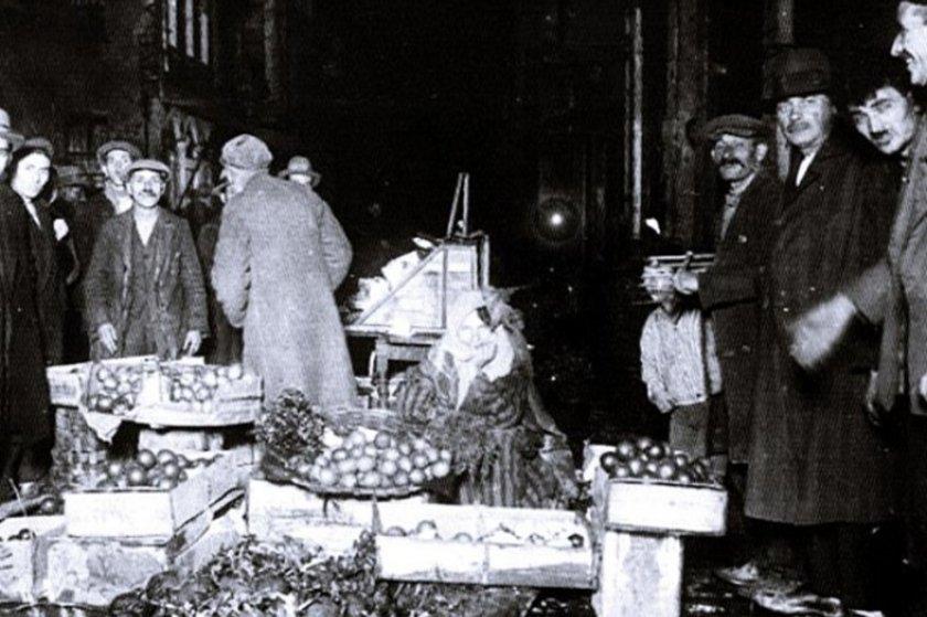 <p>Beyoğlu Balık Pazari - 1930</p>