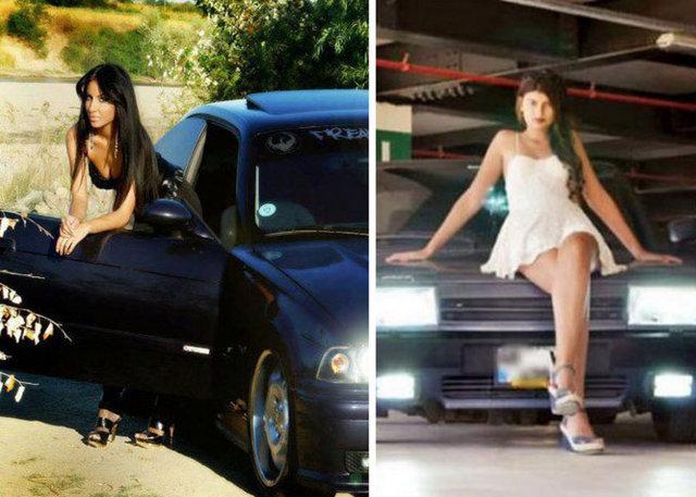 Şimdi yeni trend BMW'ci kızlar... Sosyal paylaşım sitelerine Tofaş marka araçlarla çektirdikleri fotoğrafları koyan ve kısa sürede popüler olan Tofaş'K kızlarına rakip çıktı.