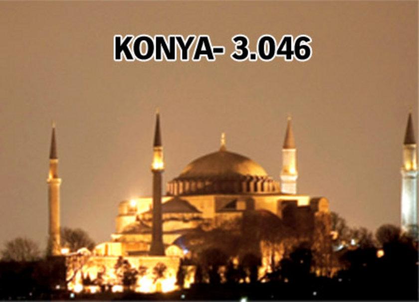 <h3>En çok caminin 3.113 rakamıyla İstanbul'da olduğu belirlenirken, en az caminin de Tunceli'de bulunduğu belirtildi. Tunceli'de cami sayısı 117.</h3>