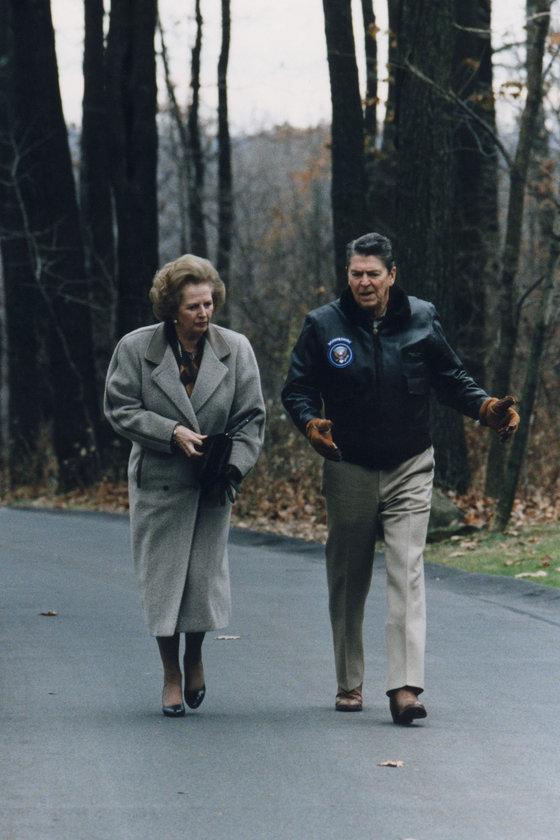 Kasım 1986- Camp David'de ABD Başkanı Ronald Reagan ile