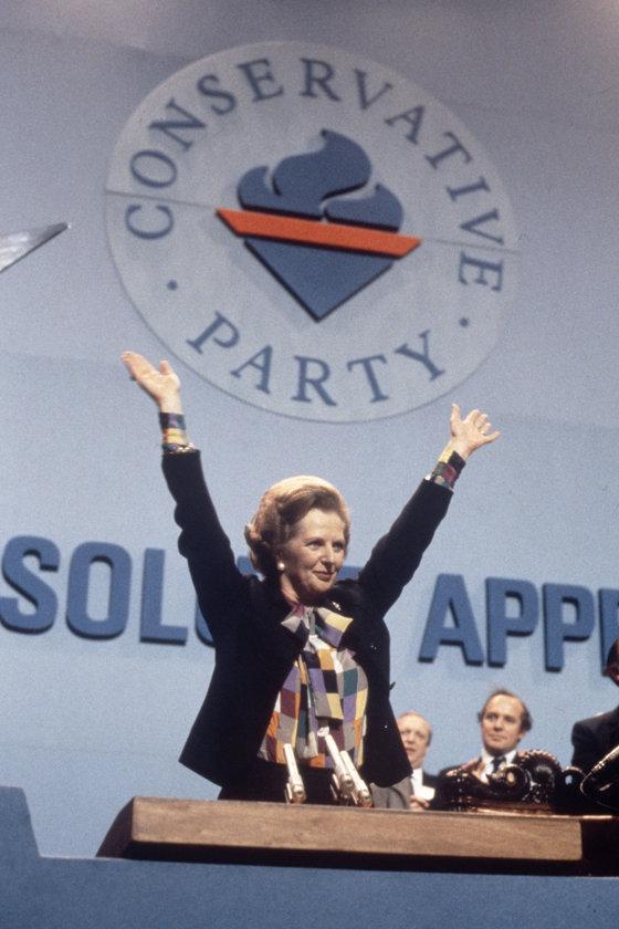 Ekim 1982- Yıllık Muhafazakar Parti Konferansı'ndaki konuşması esnasında