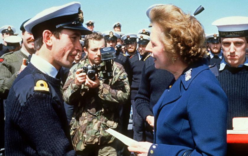 İngiliz Başbakan'ın Falkand adalarına yaptığı 5 günlük gezi sırasında çekilmiş bir fotoğrafı