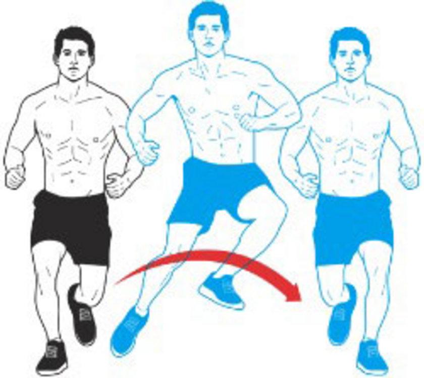 Kalçanızı hafifçe dışarı çıkarırken dizlerinizi de aynı şekilde hafifçe kırın. Şimdi sol ayağınızı yerden kaldırın ve sağ ayağınızdan güç alarak sol tarafa doğru zıplayın, Ardından yere sol ayağınızın üzerinde inin, bir saniye duraklayın ve hareketi diğer yöne de zıplayarak tekrarlayın. Otuz saniye boyunca bu harekete devam edin.