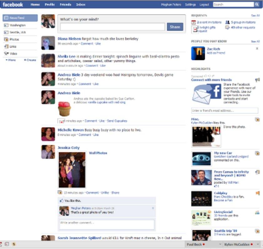 2009 yılında kullanıcıların siteyi kullanmaya alışmasını da göz önünde bulunduran Facebook daha detaylı bir tasarıma geçiyor.