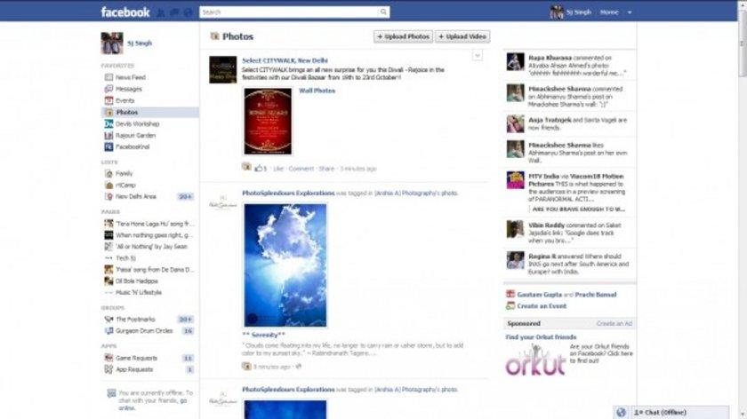 2011 yılında görünüm daha da profesyonel bir hal alıyor. Bu görüntüde zamanın devi Orkut'un Facebook'a reklam vererek kendini tanıttığı görülüyor.