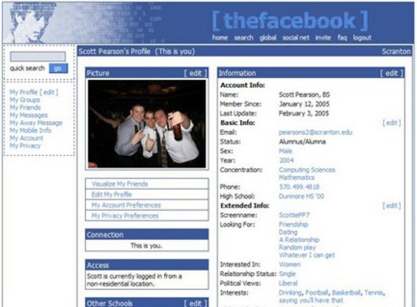 Basit bir görünüme sahip olan Facebook ilişki durumu, siyasi görüş gibi özellikleri ön plana çıkarmış durumda.