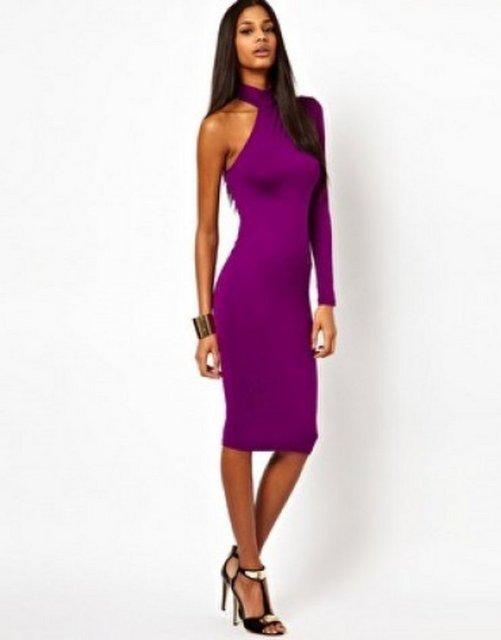 Платье Купить С Одним Рукавом