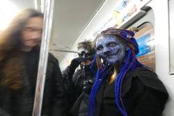 Metroda şaşırtan görüntü