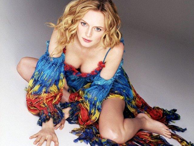 Hollywood'un en seksi kadın oyuncuları arasında ilk sıralarda yer alan Heather Graham (43)...