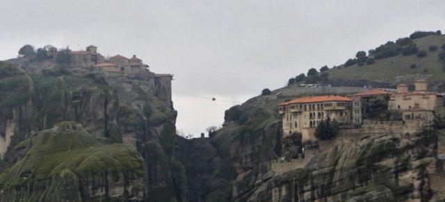 Havada ilginç bir kasaba Meteora