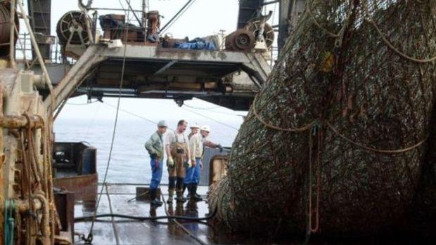 Balık ağına öyle bir şey takıldı ki