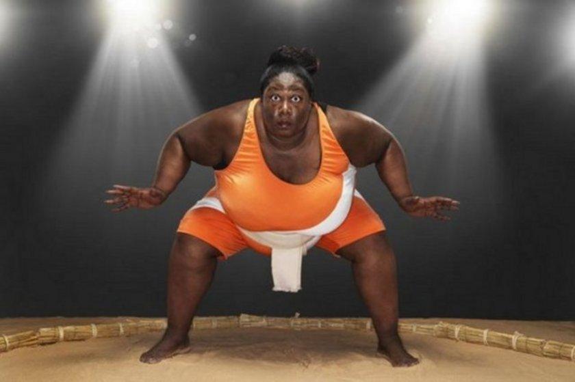 En kilolu sumo güreşçisi, Sharran Alexander. 203.21 kg