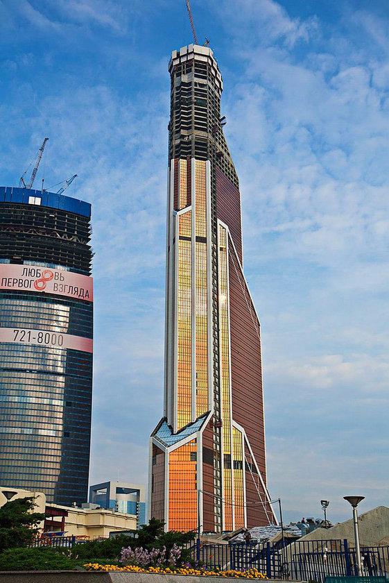 <b>38. Mercury City Tower</b> (Tamamlandı fakat tamamlanmış halinin iyi bir fotoğrafı yok)\n<br>Moscow, Russia, 339m