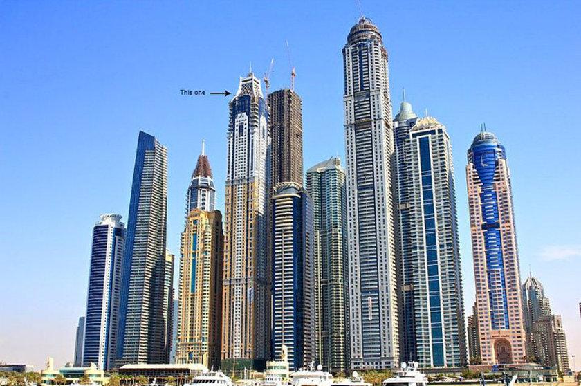 <b>23. Elite Residence</b> (işaretli olan)\n<br>Dubai, UAE, 380m