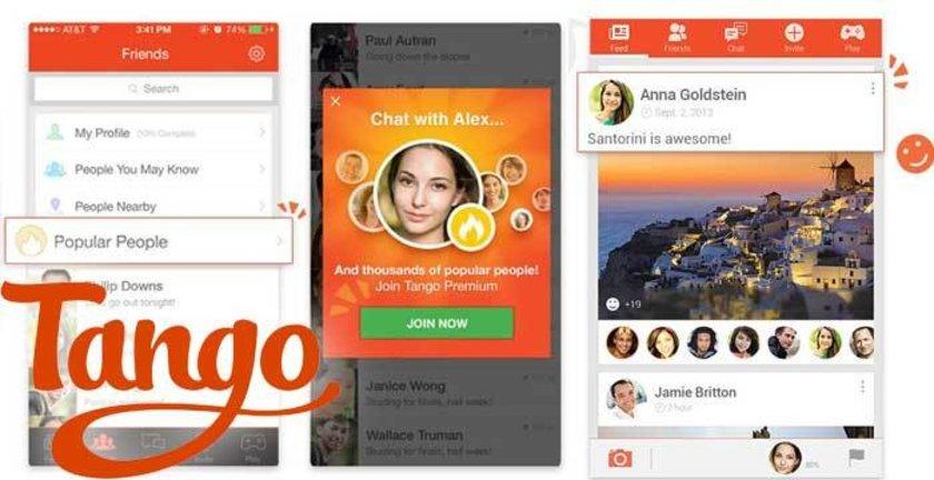 Görüntülü sohbet, mesajlaşma, resim alışverişi, oyun ve müzik paylaşımı gibi pek çok hizmet Tango ile birlikte geliyor.