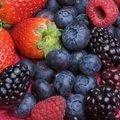 Antioksidan özelliği fazla olan koyu kırmızı, mor, sarı, turuncu renkli çilek, kiraz, vişne, domates, incir, yaban mersini, karadut, ahududu gibi meyveler.