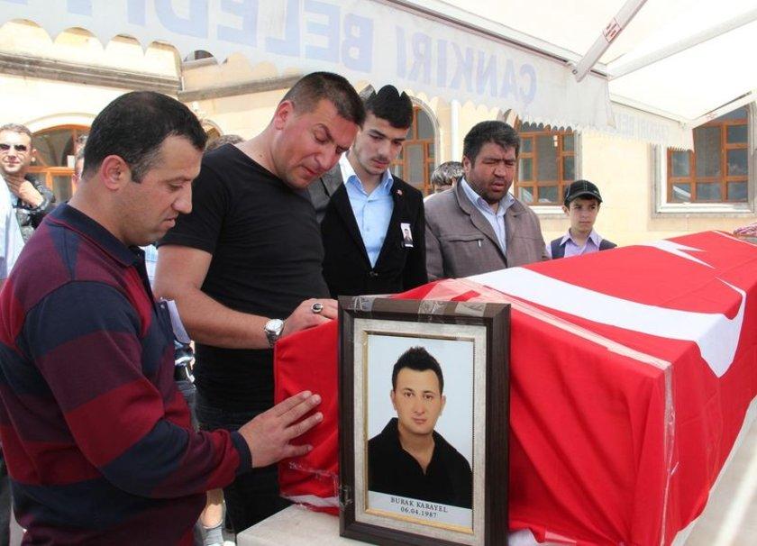Ölen mühendisin cenazesi, daha sonra Sarıbaba Mezarlığı'na götürülerek toprağa verildi.
