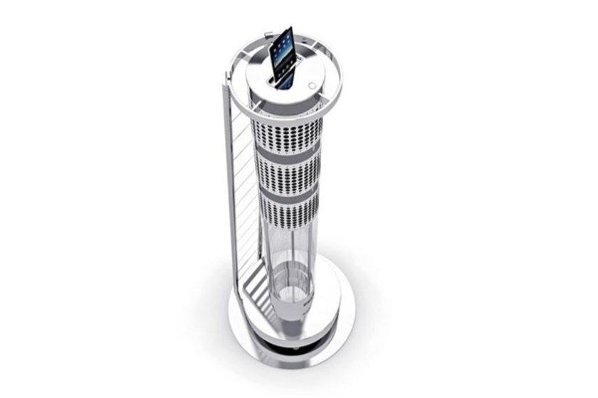 Ultimate iPad kulesi\n<br>Şarj özelliğine sahip bu kulenin fiyatı tam 15 bin 774 dolar.