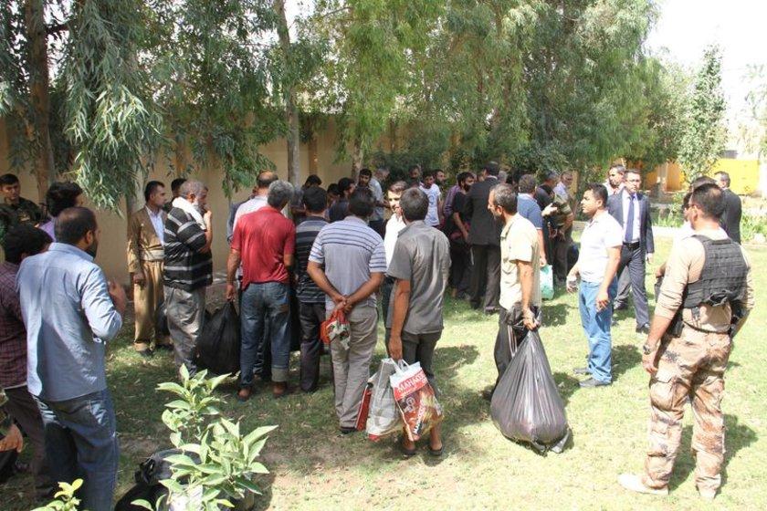 Irak'ın Musul kentinde rehin alınan Türk tır şöförleri serbest bırakıldı.