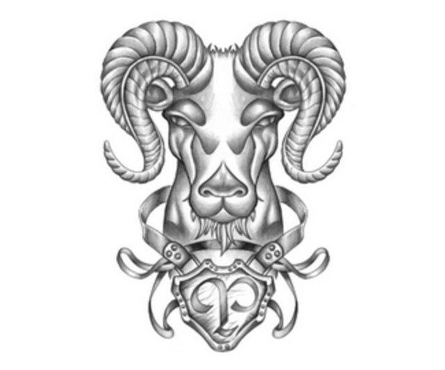 Эскизы татуировок с знаком зодиак овен