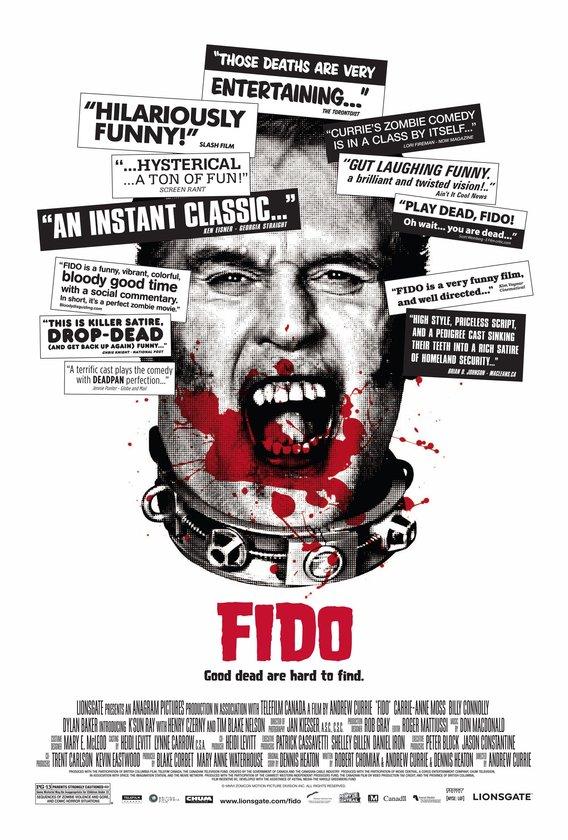 4-Fido (2006): Zombilerin 'Zomcon' adlı bir şirket sayesinde köleye dönüştüğü, manyetik tasmayla kontrol edildiği ve konformist ailelere 'ev hayvanı' olarak verildiği bir alternatif evren… Andrew Currie burada zombi istilasını bertaraf etme adına