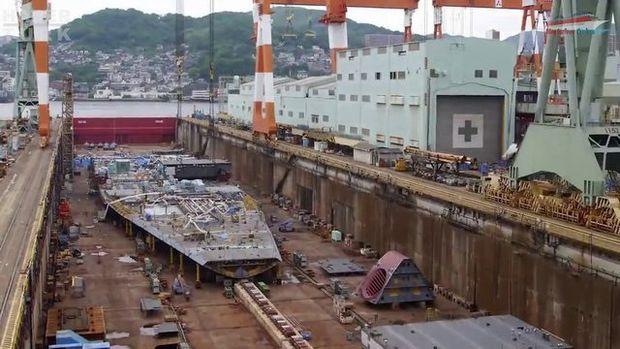 Devasa gemiler böyle yapılıyor!
