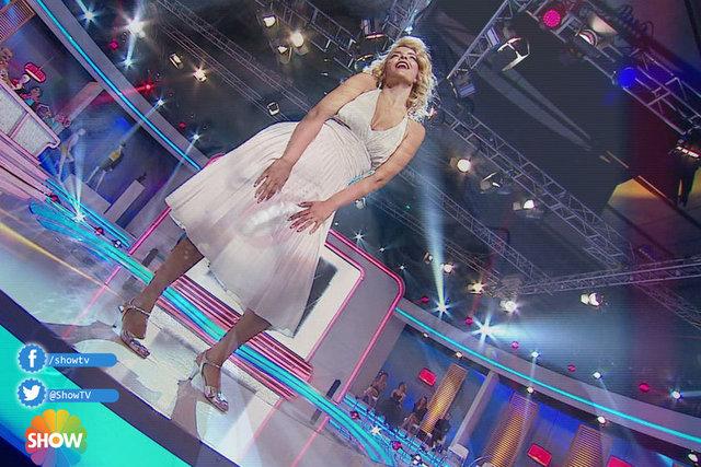 2. Eleme Gecesinde Melek Balkan İkonlardan Marilyn Monroe'u canlandırarak Jüriden 21 puan aldı.