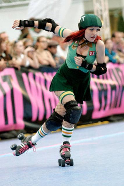 Roller derby whip it