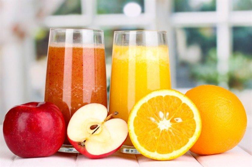 Asitli içecekler, tatlandırılmış sular, kahveli içecekler, enerji içecekleri, meyve suları ve hatta elma suyu.