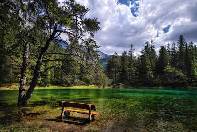 Kışın park, yazın göl oluyor!